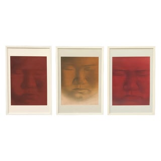 Buddha Portrait Rice Paper Paintings - Set of 3