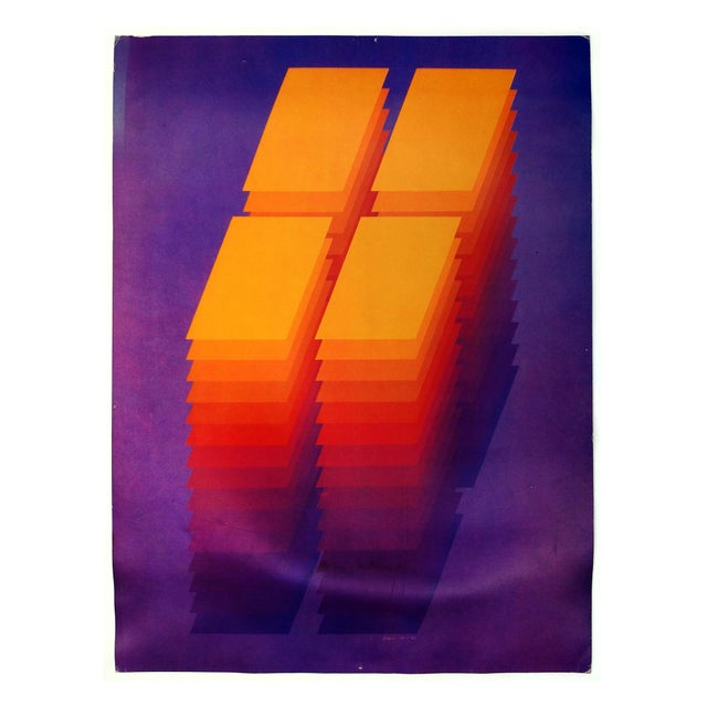 "Image of 1970's Robert Bidner ""Repetition XIV"" Poster"