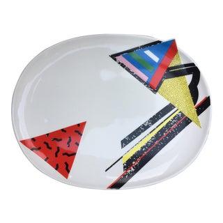 Memphis Style Post-Modern Ceramic Platter
