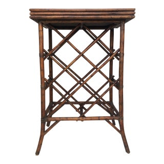 Bamboo Wine Rack & Tray Table