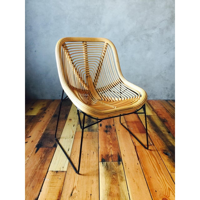 Image of Wicker Style Lounge Chairs - A Pair