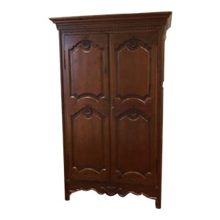 Vintage French Provincial Style Clothing Armoire