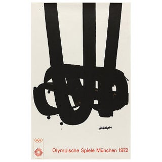 Pierre Soulages Olympic Art Framed Lithograph