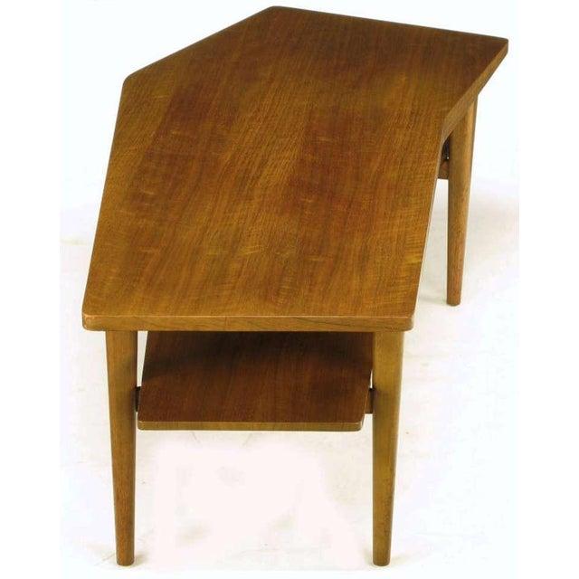 M.Singer & Sons Angled Italian Walnut Coffee Table - Image 7 of 9