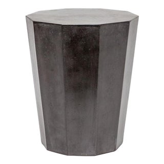 Black Concrete Garden Stool