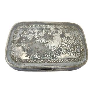 Victorian Silver Plate Box