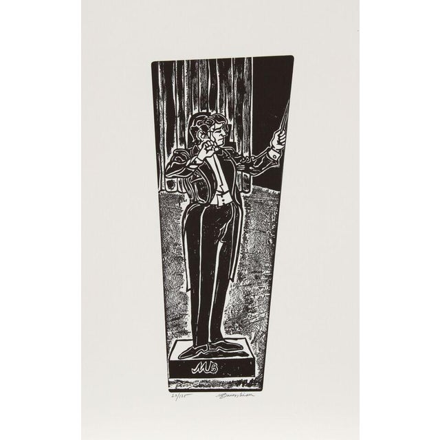"Martin Barooshian, ""Maestro,"" Intaglio Etching - Image 1 of 2"