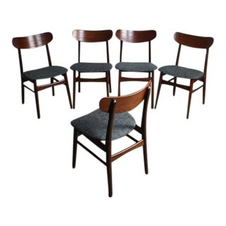 Teak Danish Modern Dining Chairs - Set of 5
