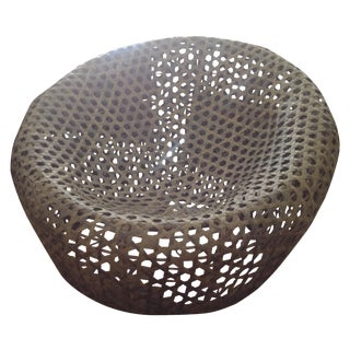 Modernist Rattan Wire Chair