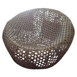 Modernist Rattan Wire Chair