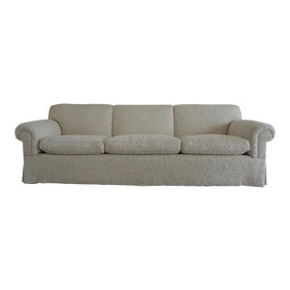 White Wool Upholstered Goose Down Sofa