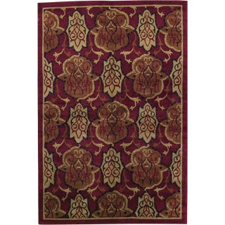 Red Transitional Hand Woven Rug - 6' X 9'