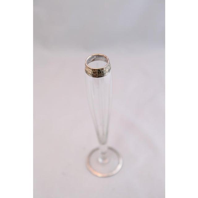 Antique Hammered Sterling & Crystal Bud Vase - Image 5 of 9