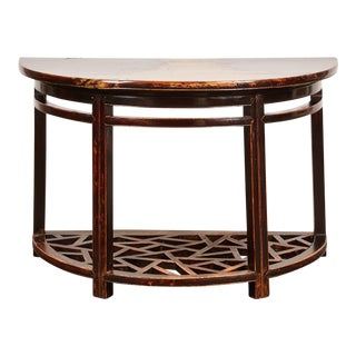 18th Century Chinese Half Round Table