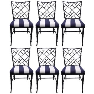Kessler Black Bamboo-Style Dining Chairs - Set of 6
