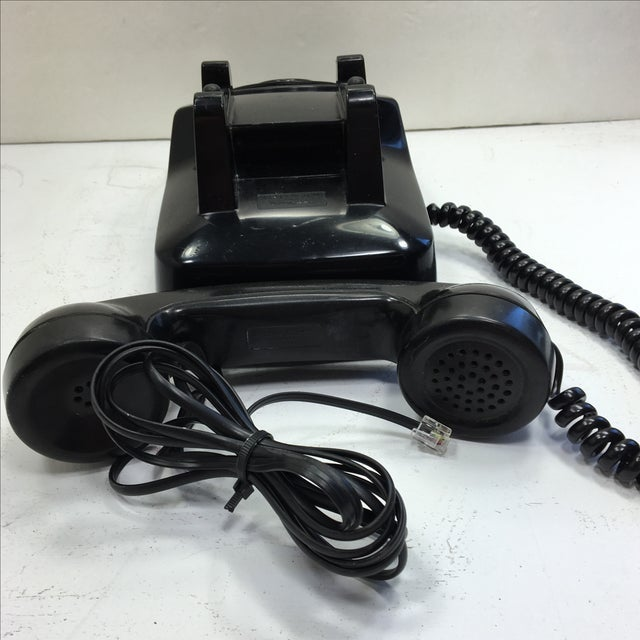 Vintage 1950s Black Rotary Dial Telephone - Image 5 of 11