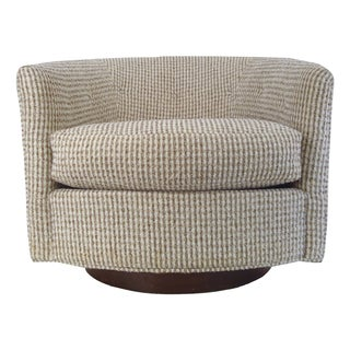 Mid-Century Modern Selig Monroe Swivel Club Chair