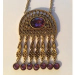 Image of Bohemian Purple Pendant Necklace