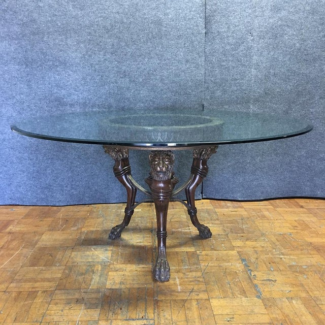 Regency-Style Glass Top Table - Image 3 of 11