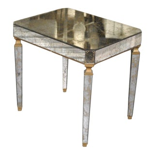 Italian Mirrored Side Table