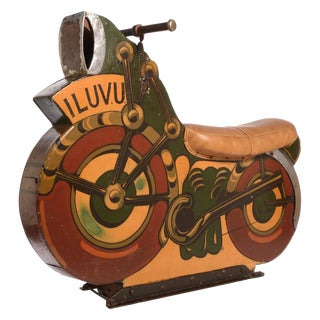 Antique Motorcycle Ride for a Carnival Carousel and Merry-Go-Round