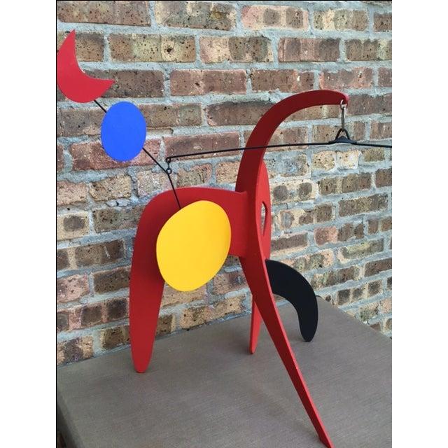 Vintage Calder Style Stabile Mobile Sculpture - Image 3 of 11
