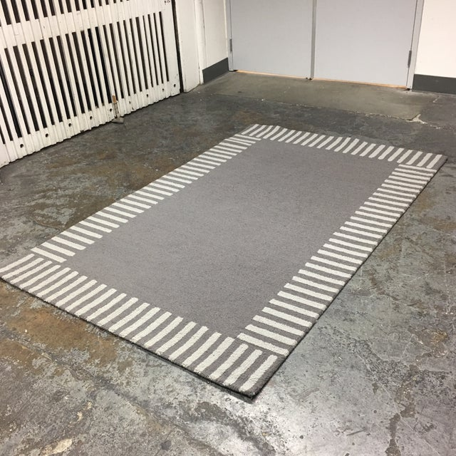Gray Striped Area Rug - 5' x 8' - Image 6 of 9