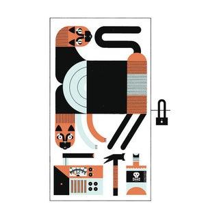 Schrödinger's Cat Quantum Physics Art Print Poster