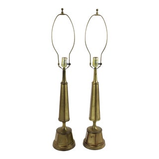 Mid-Century Rembrandt Metal Lamps - A Pair
