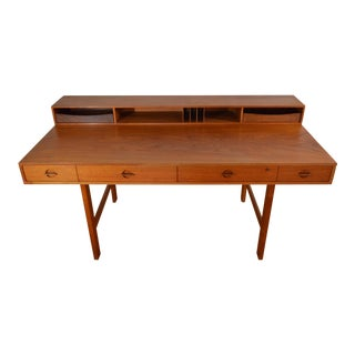 Peter Lovig Nielsen Danish Teak Flip Top Desk