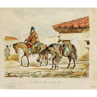 Merchants on Horseback Etching