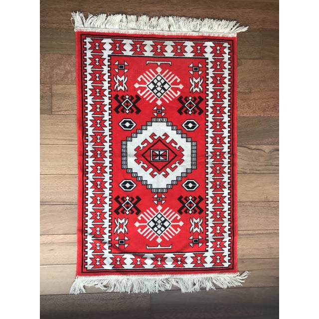 "Vintage Vibrant Red Rug - 2'3"" X 3'9"" - Image 2 of 6"
