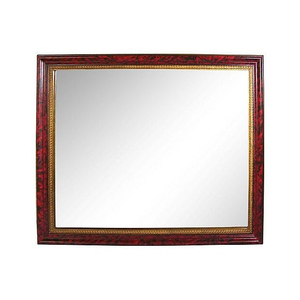 Grand Regency Style Faux Tortoise Mirror - Image 1 of 6