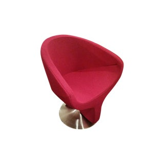 Red Swivel Club Chair