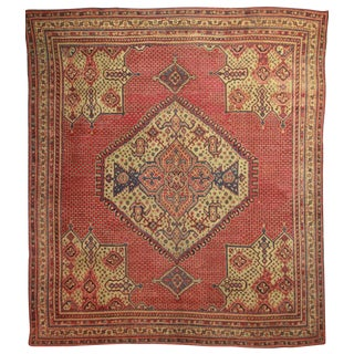 RugsinDallas Antique Hand Knotted Wool Turkish Oushak Rug - 15′10″ × 18′3″
