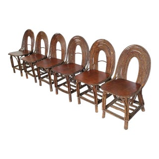Stylish Antique Adirondack Chairs, Set of Six