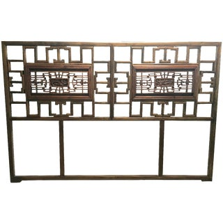 Antique Chinese Queen Headboard