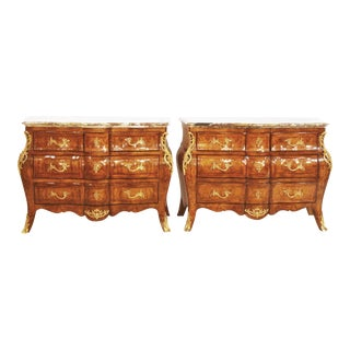 French Style Bombe Commodes - Pair