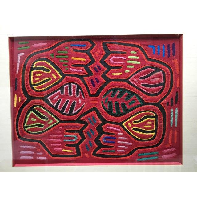 Vintage Indian Mola Framed Textile Art - Image 3 of 9