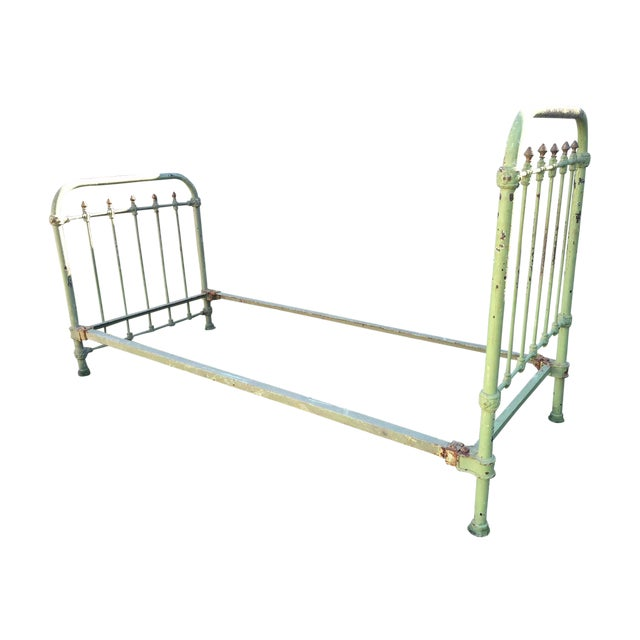 Antique French Metal Bed - Image 1 of 6