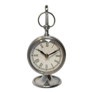 Silver Hanging Clock