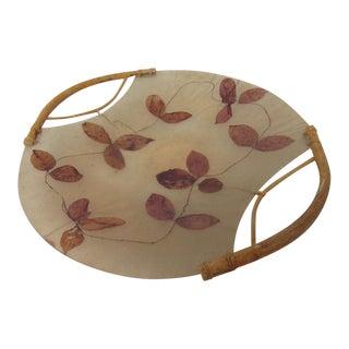 Handmade Embedded Leaves Display Tray