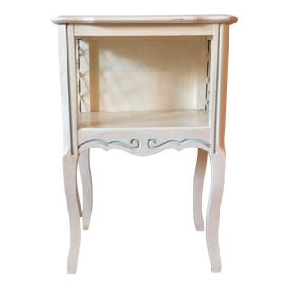 1950s Vintage French Provincial Painted Nightstand
