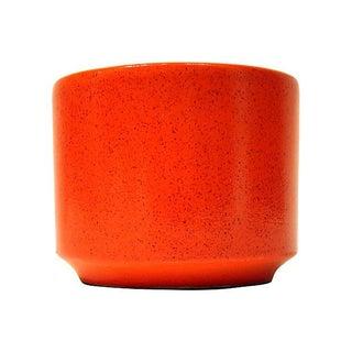 Midcentury Modern Orange Glaze Gainey Planter