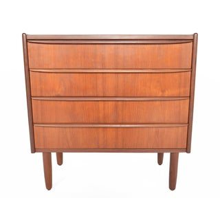 Danish Modern Four Drawer Teak Gentleman's Chest