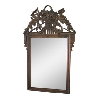 20th C. Rose Carved French Mirror