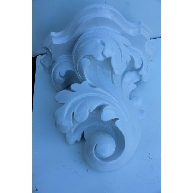 Serge Roche Vintage Plaster Wall Bracket - Image 3 of 11