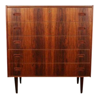 Vintage Danish Rosewood Highboy Dresser