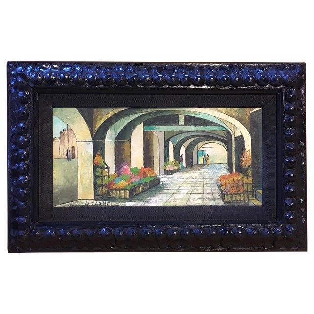 Mid-Century Painting W/ Ornate Frame - Image 1 of 6
