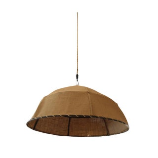 Restoration Hardware Burlap Pendant Light
